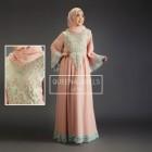 model baju gaun pesta muslim modern sifon dan taff LIETTA by QUEENALABELS
