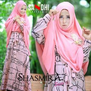 grosir baju pesta muslim online modern murah shasmira syari by sandhi