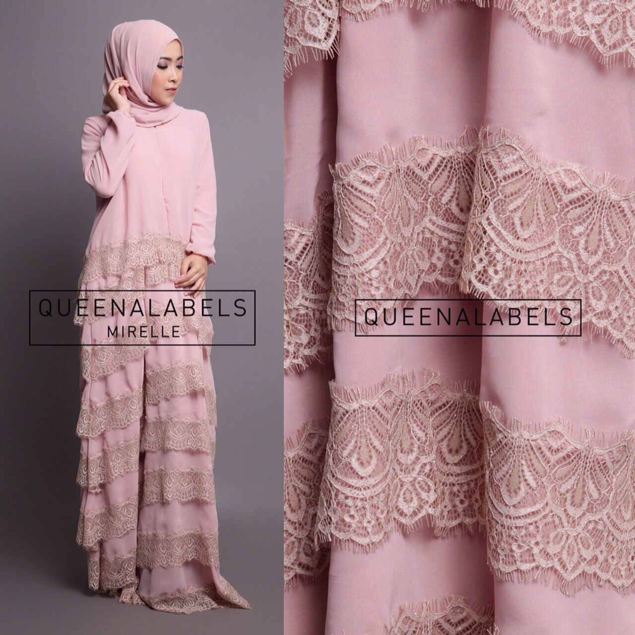 Model Baju Muslim Wanita Online Modern Terbaru Trendy Mirella By