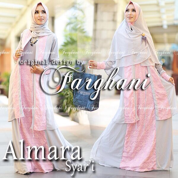 Model Gaun Busana Pesta Muslimah Modern Terbaru Almara Syar I By