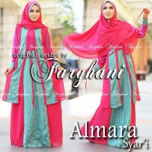 model gaun busana pesta muslimah modern terbaru Almara Syar'i by Farghani