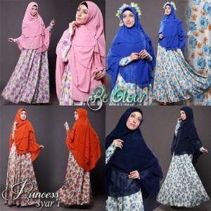 jual baju muslim online murah tanah abang terbaru modern princes syar'i be glow