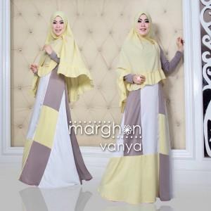 distributor model gamis syar'i muslim pesta modern 2015 kombinasi vanya by margon