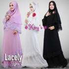 Grosir baju muslim gamis syari terbaru modern online murah 2015 lacely dari koys