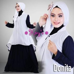 Baju busana pesta muslimah syar'i modern terbaru murah thamrin city donita from koys