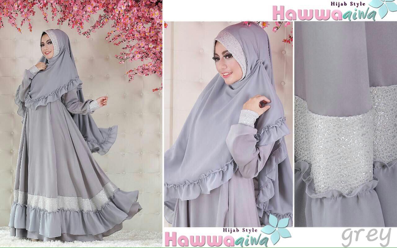 Baju gamis terbaru thamrin city aesha syar 39 i by hawwa aiwa Baju gamis versi 2015