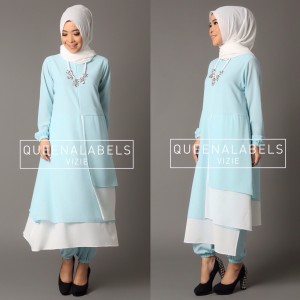 Baju Gamis Pesta Muslimah Modern Vizie By Queenalabels