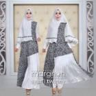 gaun pesta muslimah kombinasi batik modern terbaru 2015 yang syari twiney dari marghon