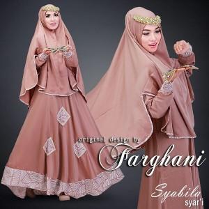 Jual baju gamis modern terbaru syabila syari by farghani Baju gamis versi 2015