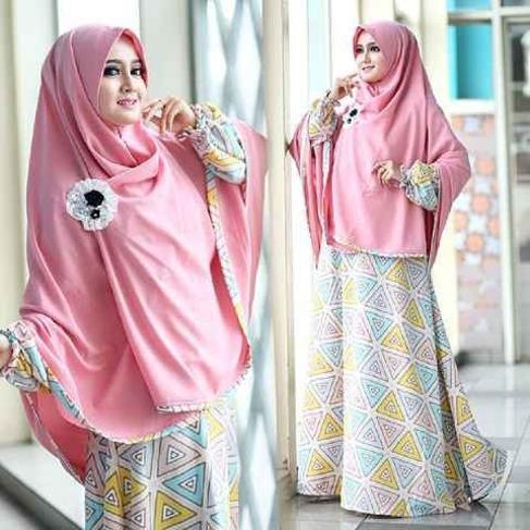 grosir baju muslim model gamis dan hijab syar i laudia