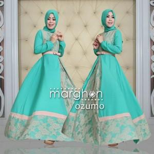 jual baju busana muslim brokat model gamis syar'i online ozumo by marghon