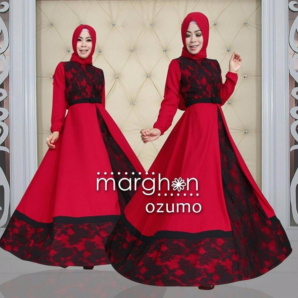 Baju busana muslim brokat model syar 39 i ozumo by marghon Jual baju gamis remaja online