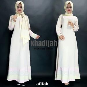 jual baju gamis pesta modern cantik muslim terbaru afifah by khodijah