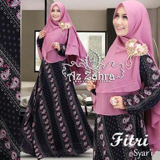 Jual Baju Model Gamis Batik Modern Fitri Syari Azzahra