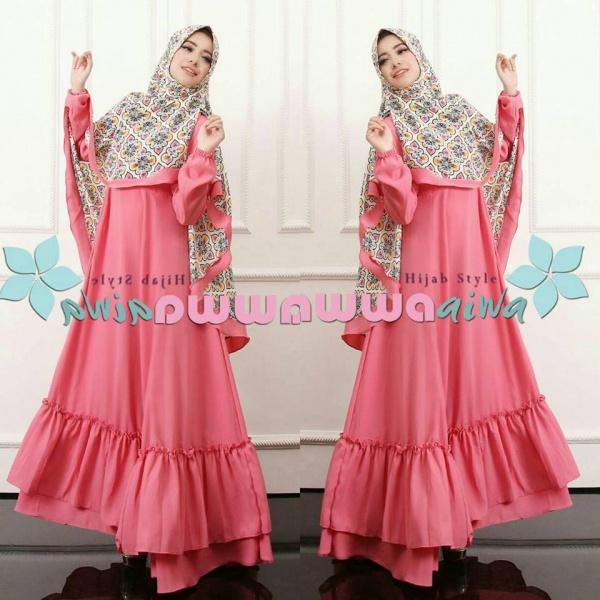 baju model gamis hijab syar'i aesha marocco hawwa aiwa