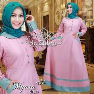jual baju model gamis syar'i modern terbaru cantik murah myara by azzahra
