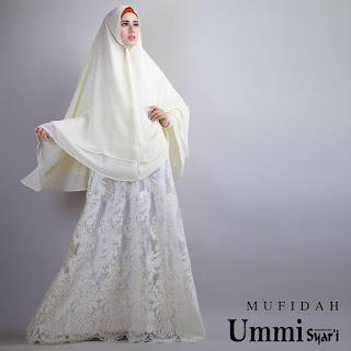 Jual Model Gaun Baju Gamis Brokat Mufidah Syari By Ummi