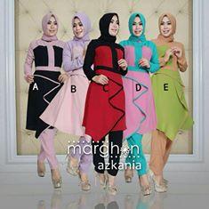 model baju gaun muslimah terbaru 2016 azkania set by marghon