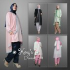 Baju muslim pakaian wanita muslimah model tunik daissy set koys