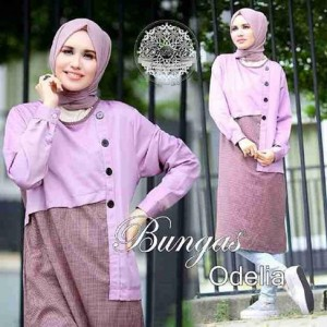 baju atasan wanita muslimah terbaru odelia tunic by bungas