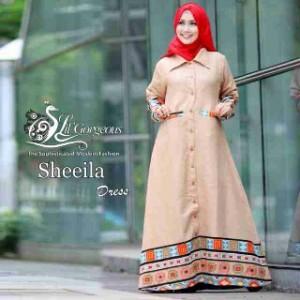 baju busana muslim modern model terbaru long cardy sheeila by lil gorgeous