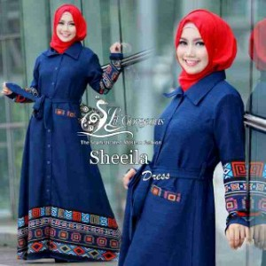 baju busana muslim modern model terbaru long cardy sheeila by lil gorgeous