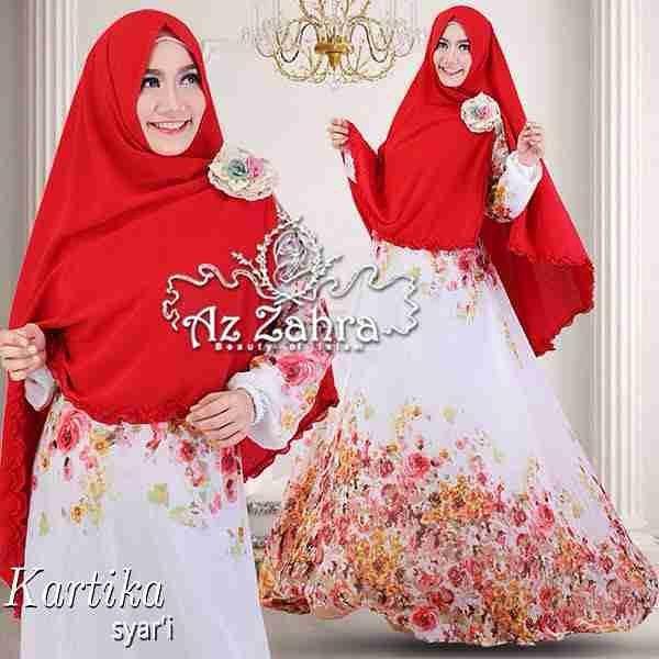 Baju gamis dan hijab syar 39 i modern terbaru kartika azzahra Baju gamis putih murah
