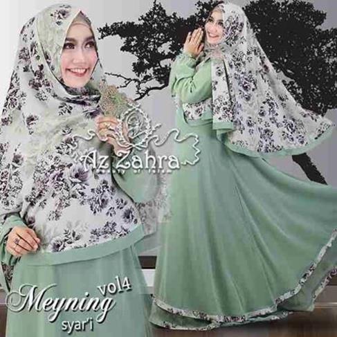 Baju Gamis Dan Hijab Syar 39 I Terbaru Meyning Vol 4 Azzahra