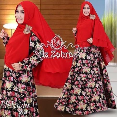 Baju Muslim Wanita Terbaru Model Gamis Melinda Azzahra