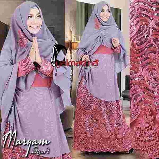 Baju Pesta Muslim Brokat Model Gamis Modern Terbaru Maryam Syar I