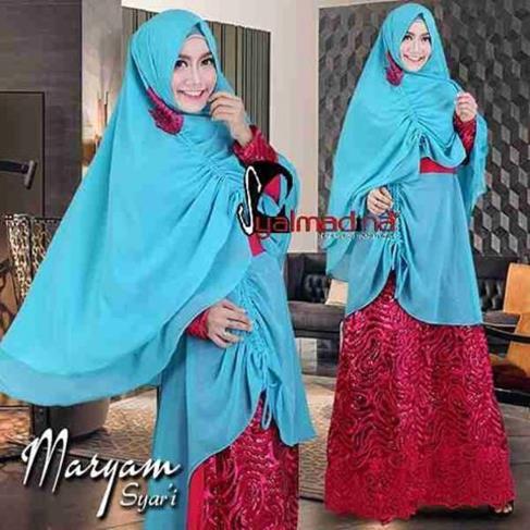 Baju Pesta Muslim Brokat Maryam Syar 39 I Syalmadina
