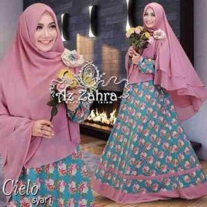 jual baju busana muslim hijab model gamis syar'i terbaru cielo Azzahra