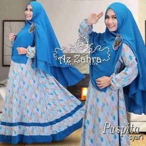 jual baju gamis hijab syar'i modern murah terbaru puspita azzahra