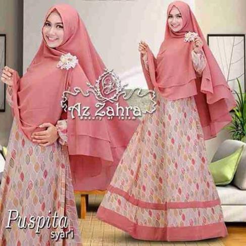 Baju Gamis Hijab Syar 39 I Modern Terbaru Puspita Azzahra