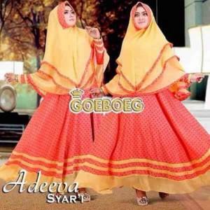 jual baju muslim model gamis modern terbaru 2016 adeeva syar'i by geoboeg