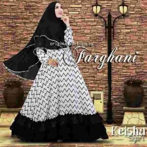 jual busana muslim baju syar'i modern terbaru keisha farghani