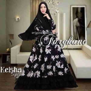 jual busana muslim pakaian wanita muslimah model baju syar'i keisha farghani