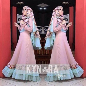 Jual busana muslim wanita masa kini modern Allura Set syari vol 3 by Kynara
