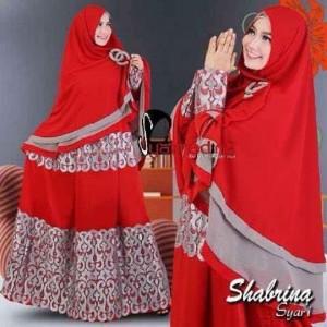 jual gaun pesta muslim mewah dan elegan model gamis modern shabrina syar'i by syalmadina