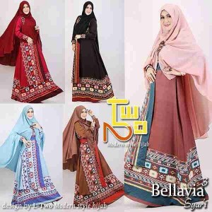 Busana muslim model baju gamis pesta Bellavia 2 by L-Two
