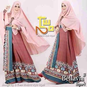 Busana muslim model baju gamis pesta Bellavia 2 by L-Two