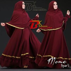 baju muslim model gamis syar'i murah terbaru mone baenetta