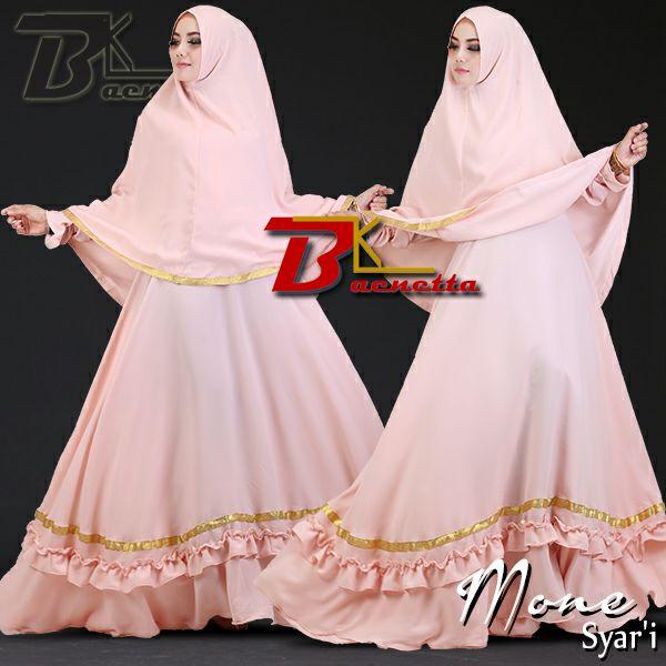 Baju Muslim Model Gamis Syar I Murah Terbaru Mone Baenetta Toko