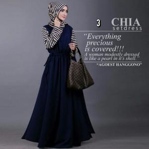 grosir busana muslim model gamis modern chia set agoest hanggono