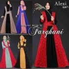 jual busana muslim model gamis modern Alexi farghani