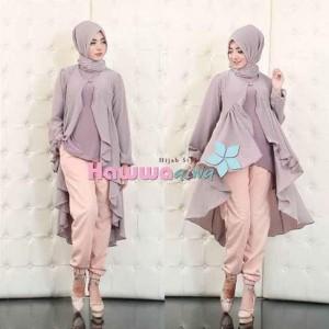 jual model baju kerja muslim terbaru jodie set hawwa aiwa