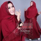 Model gamis pesta terbaru Najma Syar'i Syalmadina