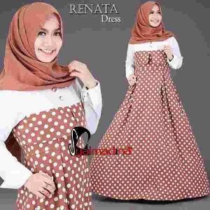 Busana muslim terbaru Renata dress by syalmadina