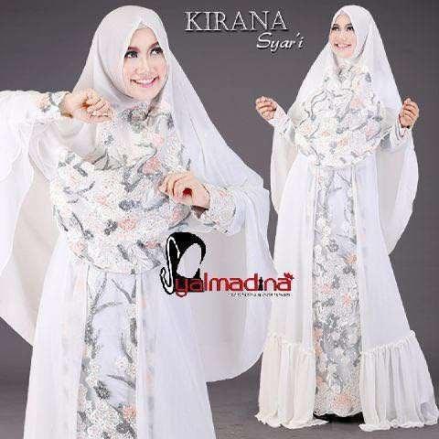 Gaun Pesta Muslim Model Gamis Kirana Syar I Syalmadina Toko Busana
