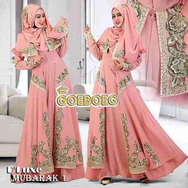 15 Desain Terbaru Model Baju Pesta Muslim Modern Mewah Baju Gamis